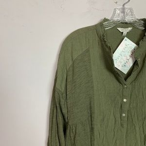 Lucky Brand Tops - Lucky Brand | olive green popover top size medium